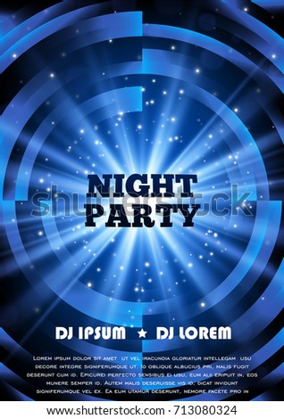 blue party club flyer vector poster stock vector royalty free