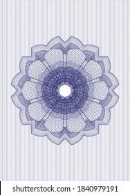 Blue passport money rosette. Vector Illustration. Detailed.