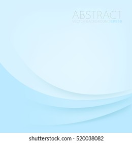 Blue pastel vector background with blue overlap paper layer on blue space curve line for text and message design