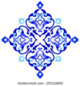 Blue patterns series designed utilizing the old Ottoman motifs