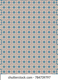 Blue and peach pattern image, great for design projects and background