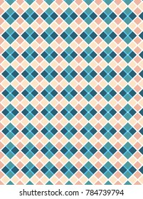 Blue, peach and white pattern plaid image, great for design projects and background