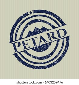Blue Petard distressed with rubber seal texture