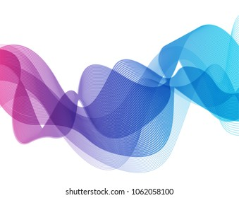 Blue and pink color abstrac wave background