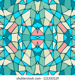 Blue and Pink Seamless Abstract Pattern