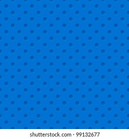 Blue Plastic Seamless Pattern with holes