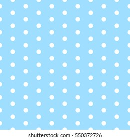 Blue polka dot. Baby background. Polkadot pattern vector. Eps10.