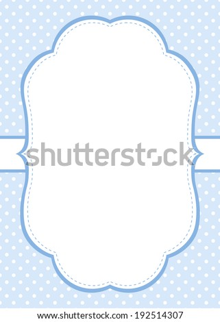 blue polka dot invitation template stock vector royalty free
