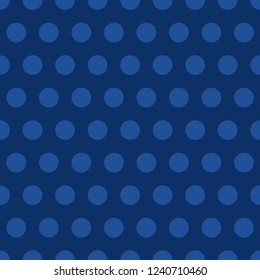 Blue polka dots trendy background