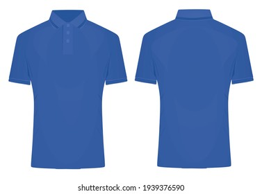 Blue  polo t shirt. vector illustration