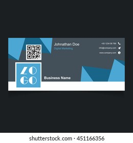 Blue Polygonal background web banner template. Header Layout Template. Creative cover. Web Banner.