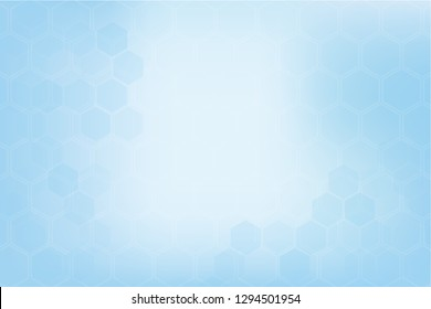 Blue polygonal banner. Abstract healthy and medical background. Technology and science wallpaper template. Soft blue color. Business vector illustration