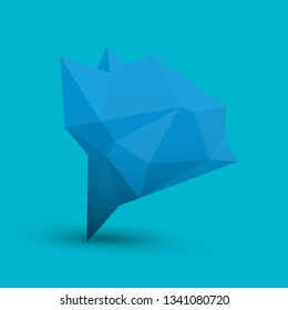 blue polygonal geometric banner . Abstract vector Illustration, low poly style. Stylized design elementfor logo, banner, poster, flyer, cover, brochure and web backgrounds