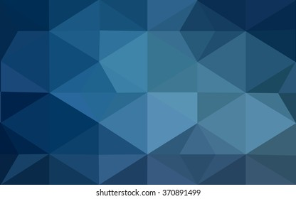 Blue polygonal illustration, which consist of triangles. Geometric background in Origami style with gradient. Triangular design for your business.