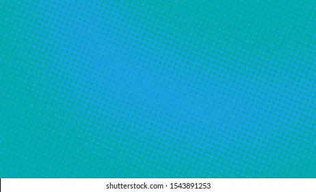 Blue pop art retro background with halftone dotted design in comic style