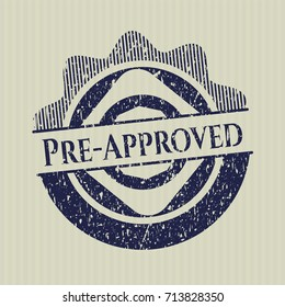 Blue Pre-Approved distressed rubber grunge texture seal