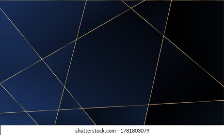 Blue Premium Triangular Pattern. Elegant Dark Platinum Chic Shapes Frame Rich VIP Silver Geometric Celebration Background. Crystal Triangle Blue Premium Wallpaper. Gold Lines Polygon Luxury Border.