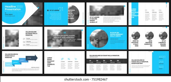 Blue presentation templates elements on a white background. Vector infographics. Use in Presentation, flyer and leaflet, corporate report, marketing, advertising, annual report, banner.