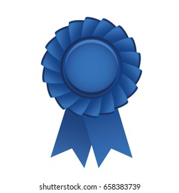 Blue prize ribbon vector