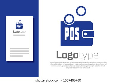 Blue Proof of stake icon isolated on white background. Cryptocurrency economy and finance collection. Logo design template element. Vector Illustration