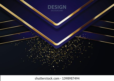 blue purple abstract background banner with circle gold coloe creative digital light modern