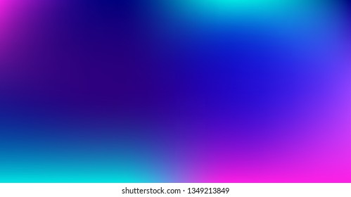 Blue Purple Gradient Dreamy Vibrant Vector Background. Sunrise, Sunset, Sky, Water Color Overlay Neon Design Element. Trendy Unfocussed Luxury Holograph Texture. Minimal Paper Tech Digital Gradient