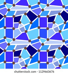 blue quadrangle pattern