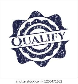 Blue Qualify distress rubber grunge texture stamp