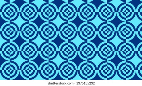 Blue Quarter Circles Pattern Background