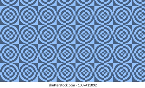Blue Quarter Circles Pattern Background Vector Image