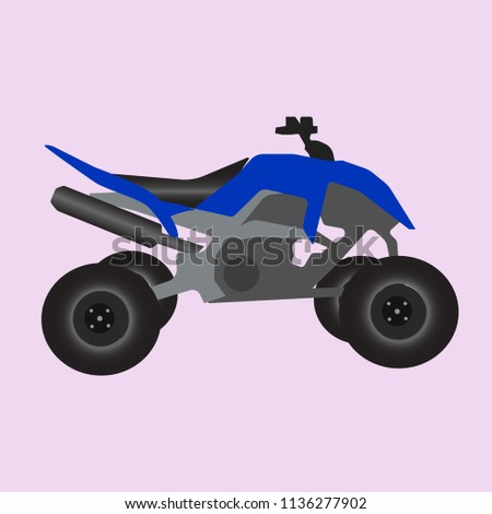 Blue Racing Quad Bike Icon Stock Vector Royalty Free 1136277902