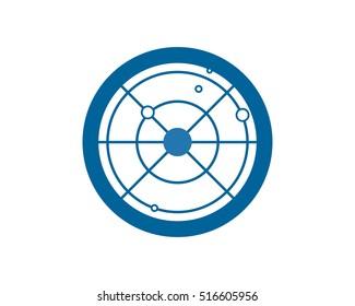 blue radar image vector icon logo symbol