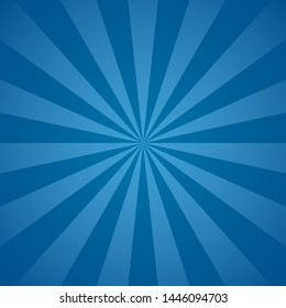 Blue radial beams and rays abstract lines background