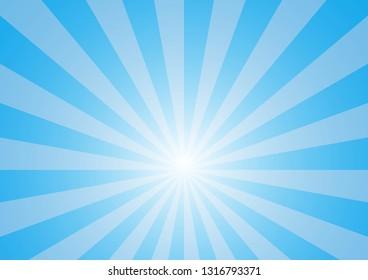 Blue radiate light background