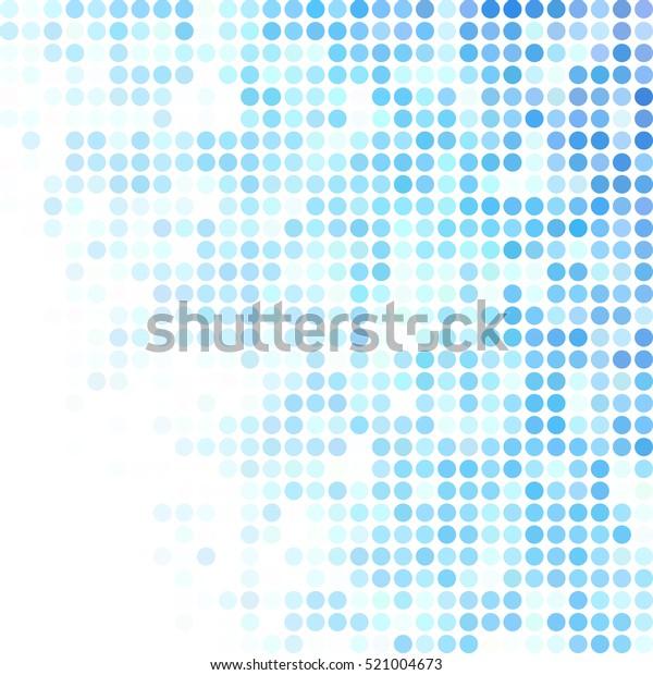 青のランダムドットの背景、クリエイティブデザインテンプレート