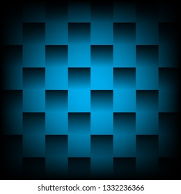 Blue rattan basketry pattern vector bacground