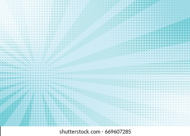 blue rays pop art comic background. retro vector illustration