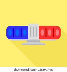 Blue red flasher icon. Flat illustration of blue red flasher vector icon for web design