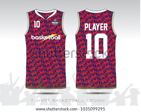 Blue Red Layout Basketball Uniform Sport Stock Vector Royalty Free