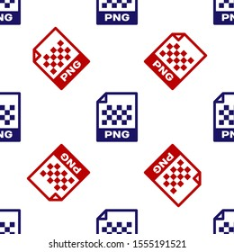 Blue and red PNG file document. Download png button icon isolated seamless pattern on white background. PNG file symbol.  Vector Illustration