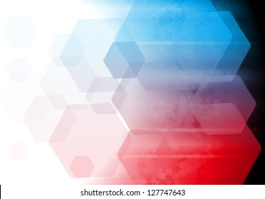 Blue and red technology design. Vector background eps 10