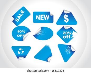 blue retail price stickers