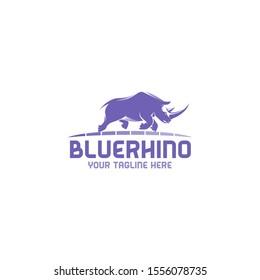 Blue Rhino Logo - Rhino Logo Great for any related Company theme.