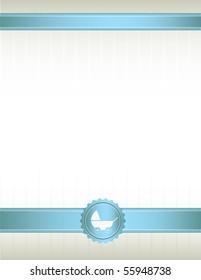 Blue ribbon baby stroller background - vector
