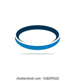 Blue Ring Orbit Logo Template Illustration Design. Vector EPS 10.