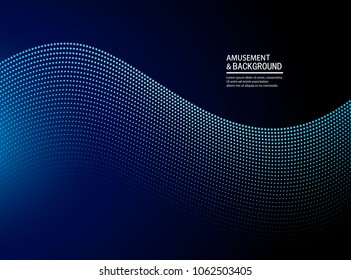 Blue ripple particle background
