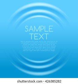 Blue Rippled Background Template : Vector Illustration