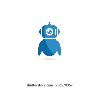 Blue robot logo