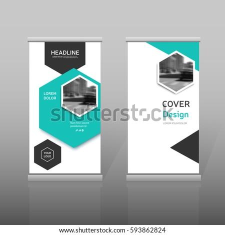 blue roll design minimal business brochure stock vector royalty