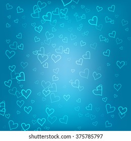 Blue romantic Vector background for Web and Mobile Applications, Illustration template design, business infographic, cover, banner, presentation, page, poster, document